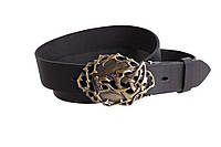 Мужской кожаный ремень Dovhani BLX49141666 120 см Черный, фото 1