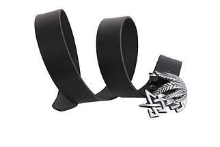 Мужской кожаный ремень Dovhani BLX49153676 120 см Черный, фото 3