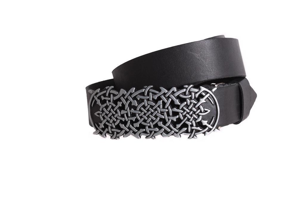 Мужской кожаный ремень Dovhani BLX49156677 120 см Черный