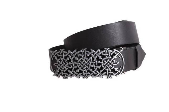 Мужской кожаный ремень Dovhani BLX49156677 120 см Черный, фото 2