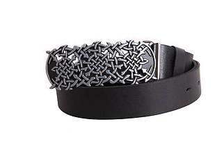 Мужской кожаный ремень Dovhani BLX49156677 120 см Черный, фото 3