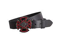 Мужской кожаный ремень Dovhani BLX49159680 120 см Черный, фото 1