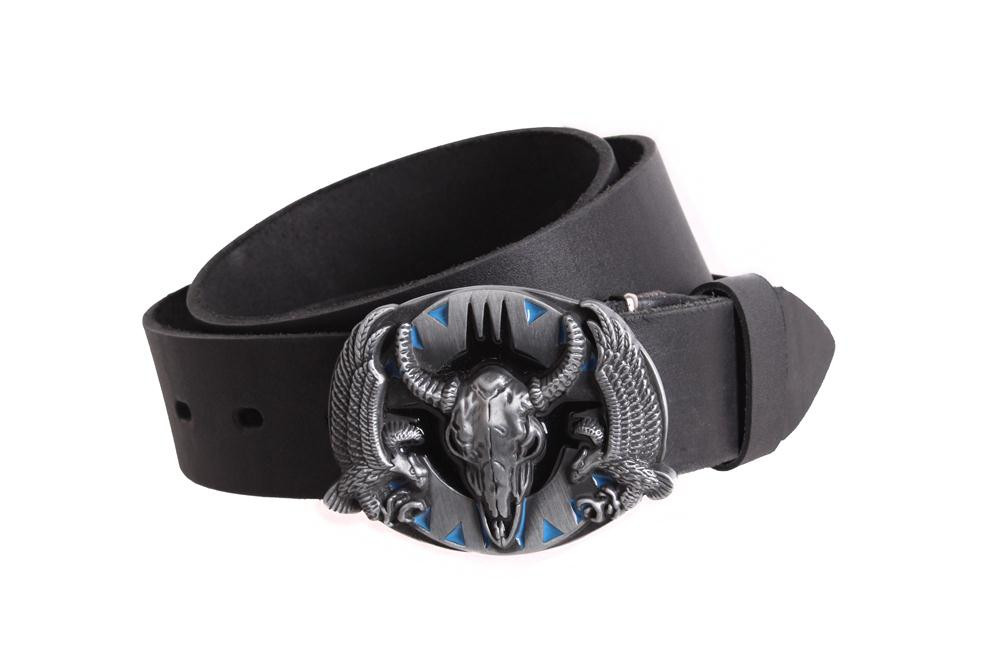Мужской кожаный ремень Dovhani BLX49162683 120 см Черный