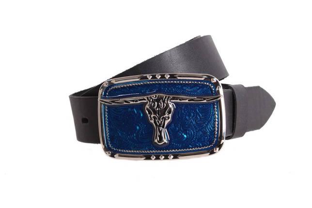 Мужской кожаный ремень Dovhani blx90268690 120 см Черный, фото 2