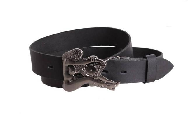 Мужской кожаный ремень Dovhani blx90269691 120 см Черный, фото 2