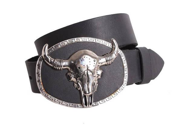 Мужской кожаный ремень Dovhani blx90307714 120 см Черный, фото 2