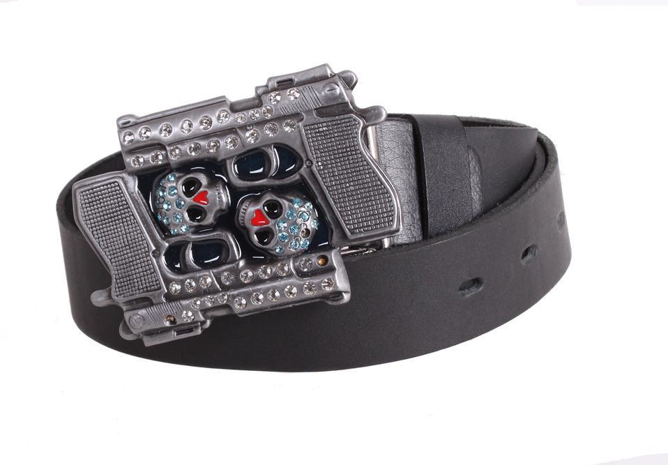 Мужской кожаный ремень Dovhani blx90336740 120 см Черный