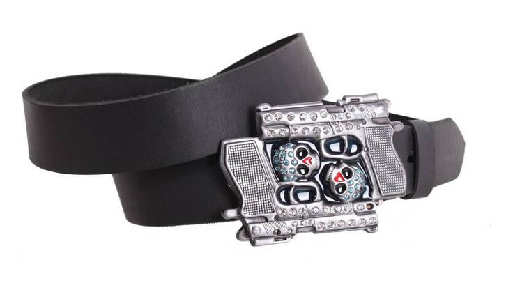 Мужской кожаный ремень Dovhani blx90336740 120 см Черный, фото 2