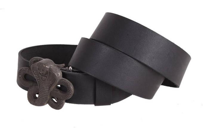 Мужской кожаный ремень Dovhani blx90340743 120 см Черный, фото 2