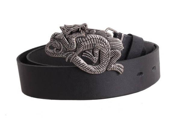 Мужской кожаный ремень Dovhani blx90344745 120 см Черный, фото 2