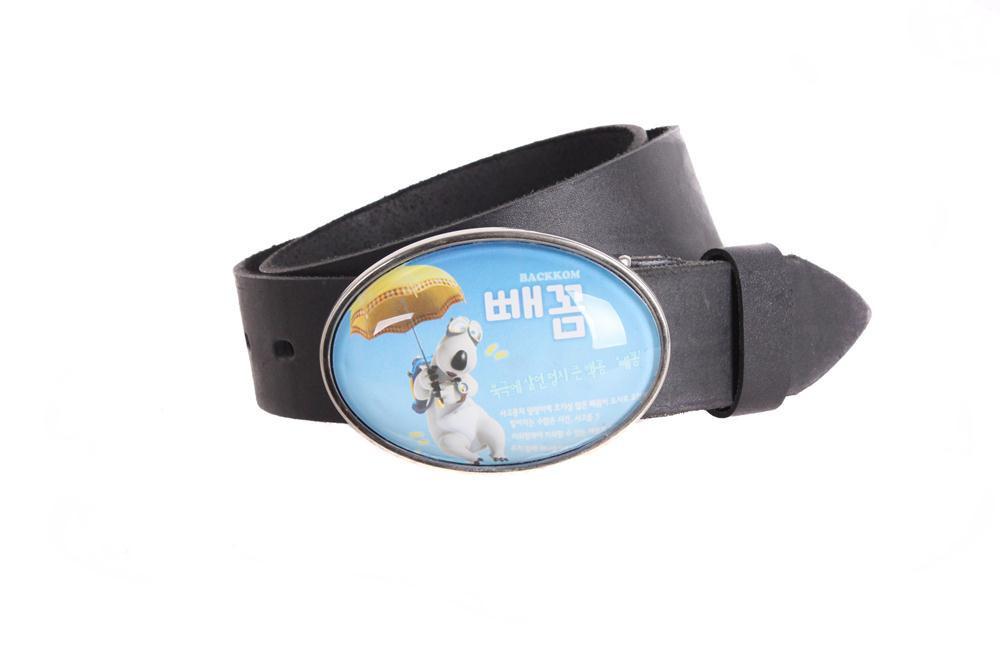 Мужской кожаный ремень Dovhani blx90348747 120 см Черный
