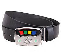 Мужской кожаный ремень Dovhani BLX5163-86754 120 см Черный, фото 1