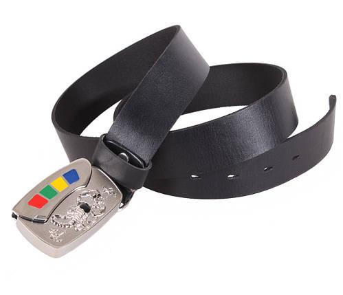 Мужской кожаный ремень Dovhani BLX5163-89777 120 см Черный, фото 2