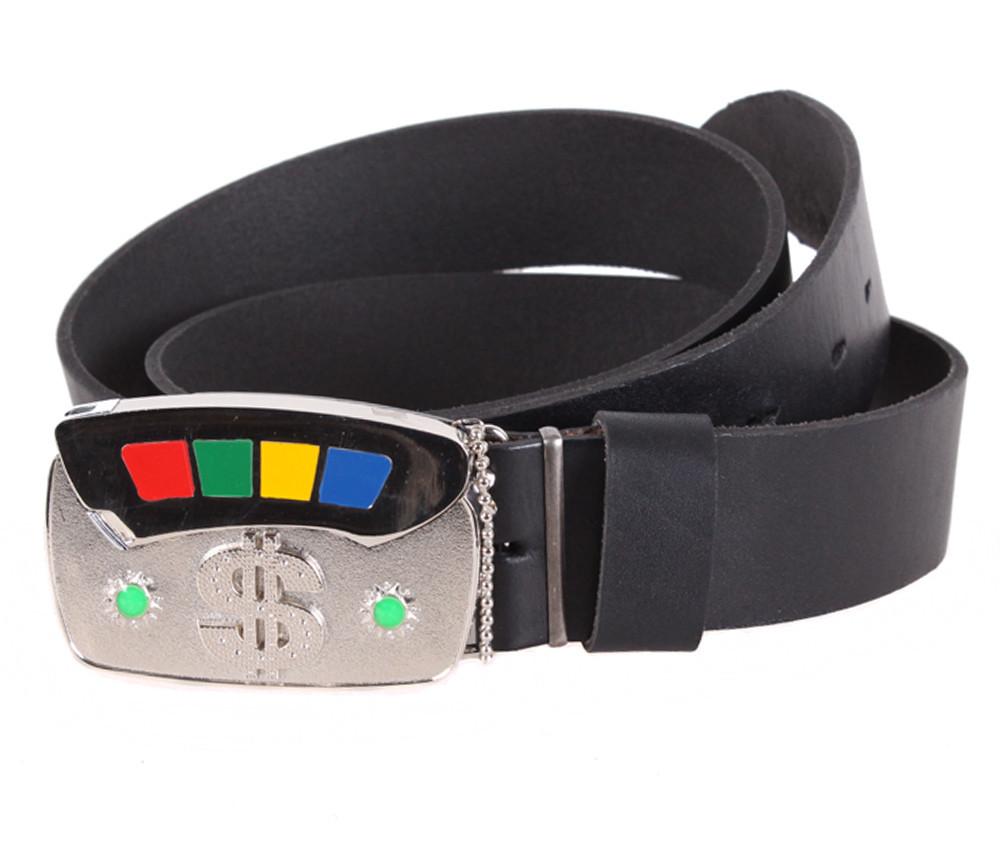 Мужской кожаный ремень Dovhani BLX5163-90778 120 см Черный