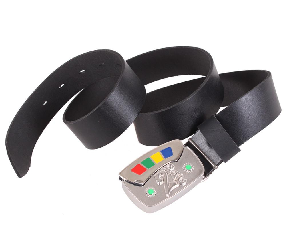 Мужской кожаный ремень Dovhani BLX5163-91779 120 см Черный