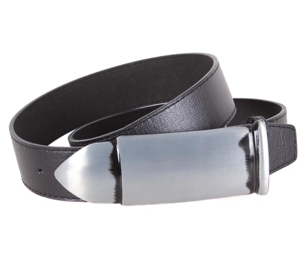 Мужской кожаный ремень Dovhani BLX5163-96784 120 см Черный