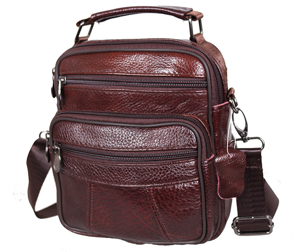 Мужская кожаная сумка Dovhani Bon101-1Coffee787 Коричневая