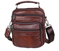 Мужская кожаная сумка Dovhani Bon101-3LCoffee790 Коричневая, фото 1