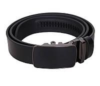 Мужской кожаный ремень Dovhani MOR1-00791 115-125 см Черный