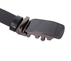Мужской кожаный ремень Dovhani MOR1-00791 115-125 см Черный, фото 2