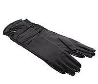 Женские кожаные перчатки Dovhani 7085-2794 Черные
