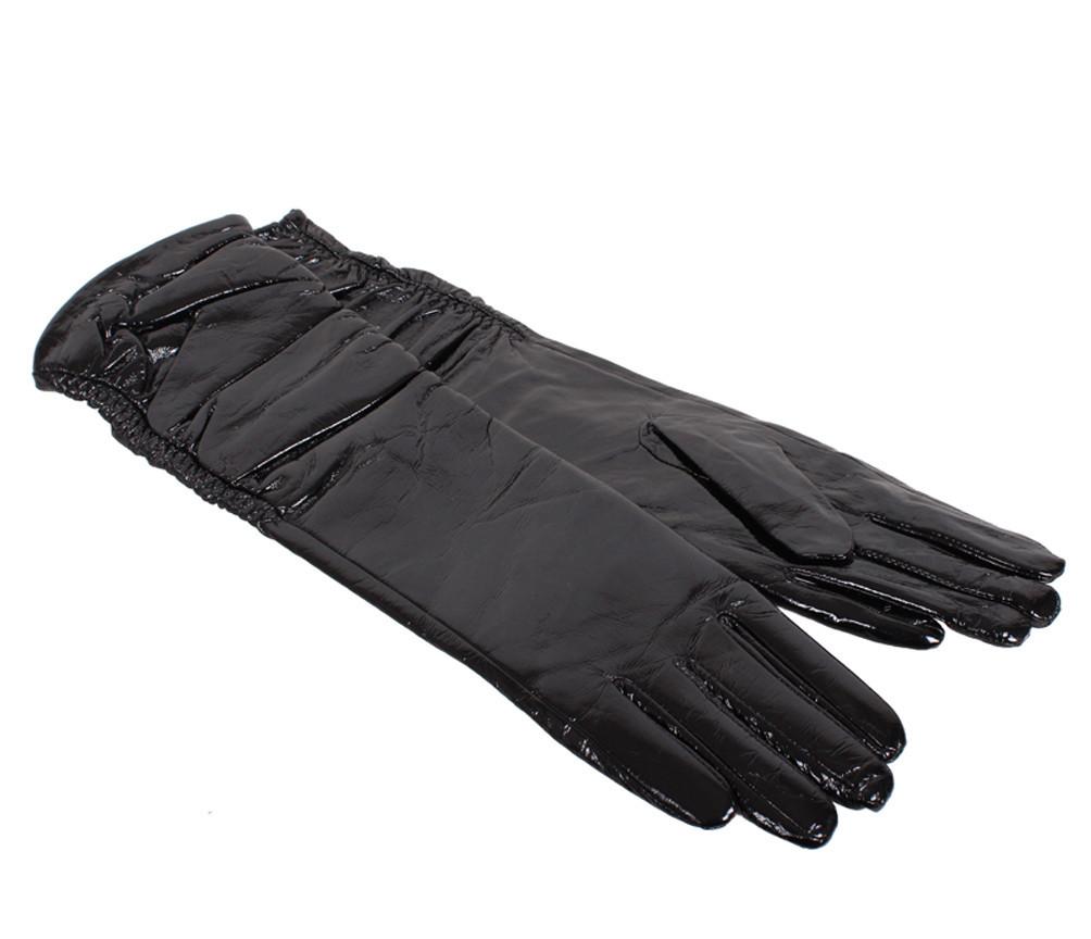 Женские кожаные перчатки Dovhani 7085-2794 Черные, фото 1