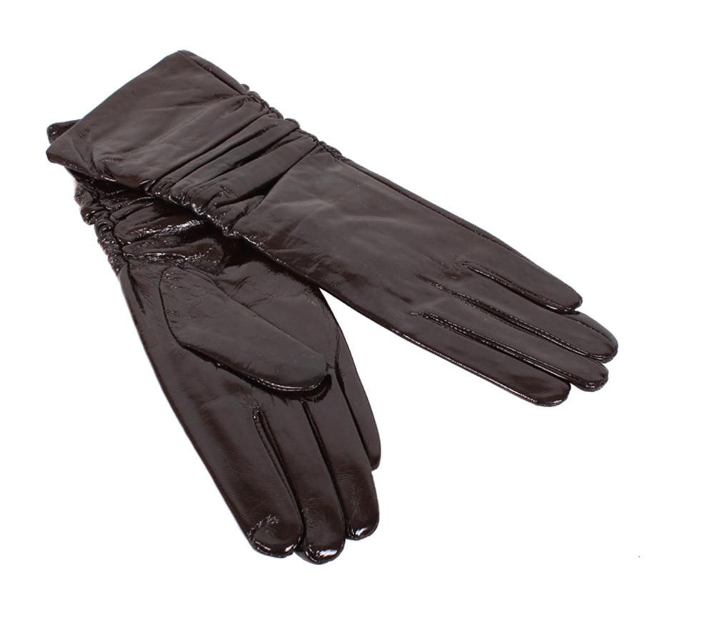 Женские кожаные перчатки Dovhani 7085-2795 Черные