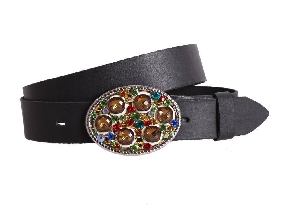 Женский кожаный ремень Dovhani blx90375797 115-125 см Черный