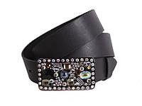 Женский кожаный ремень Dovhani blx90288808 115-125 см Черный, фото 1