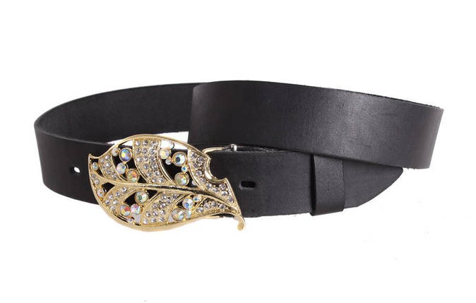 Женский кожаный ремень Dovhani blx90380812 120-126 см Черный, фото 2