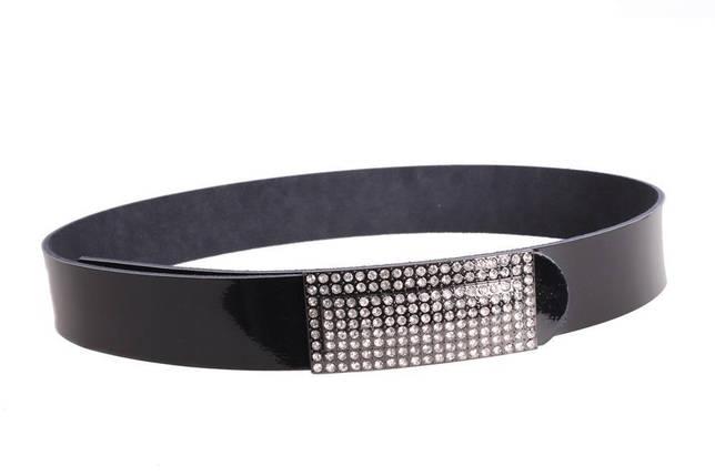 Женский кожаный ремень Dovhani W167816 102-110 см Черный, фото 2