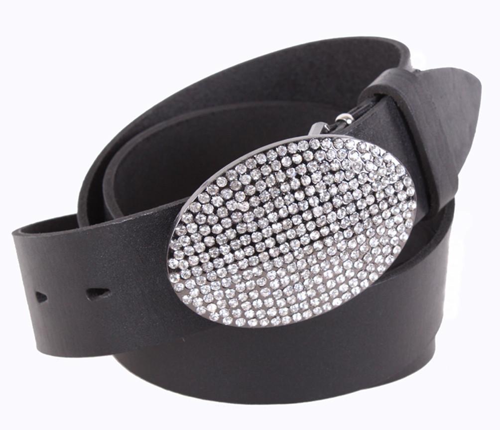 Женский кожаный ремень Dovhani UKK712-17833 115-125 см Черный