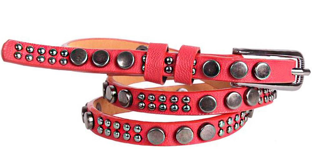 Женский узкий ремень Dovhani W1120838 115 см Красный