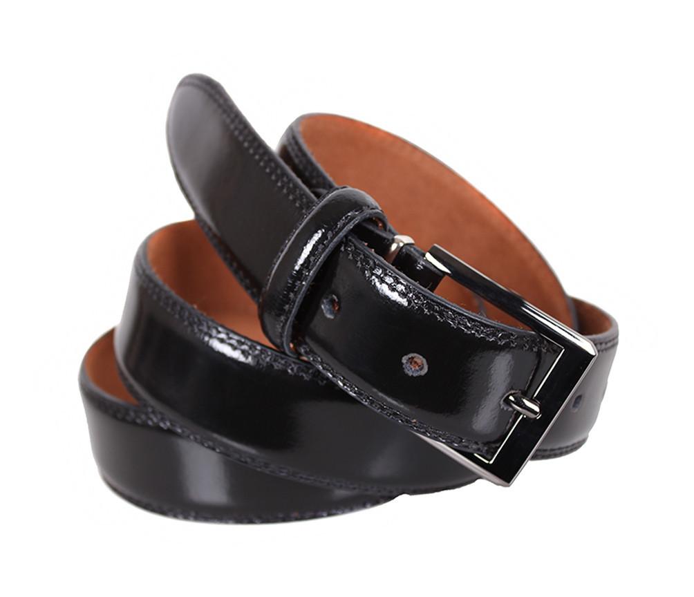 Мужской кожаный ремень Dovhani MJ0007-2846 115-125 см Черный