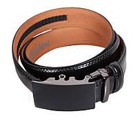 Мужской кожаный ремень Dovhani MJ0007-3847 115-125 см Черный, фото 1