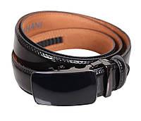 Мужской кожаный ремень Dovhani MJ0007-4849 115-125 см Черный, фото 1