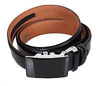 Мужской кожаный ремень Dovhani MJ0007-5850 115-125 см Черный, фото 1