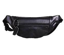 Мужская кожаная сумка на пояс Dovhani  SW8683855 Черная, фото 3