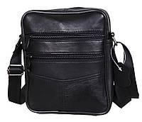 Мужская кожаная сумка Dovhani  SW276857 Черная, фото 1