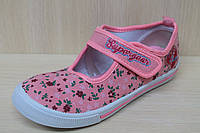 Детские мокасины на девочку, текстильная обувь, кеды р.35