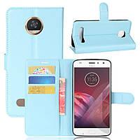 Чехол-книжка Litchie Wallet для Motorola Moto Z2 Play XT1710 Голубой