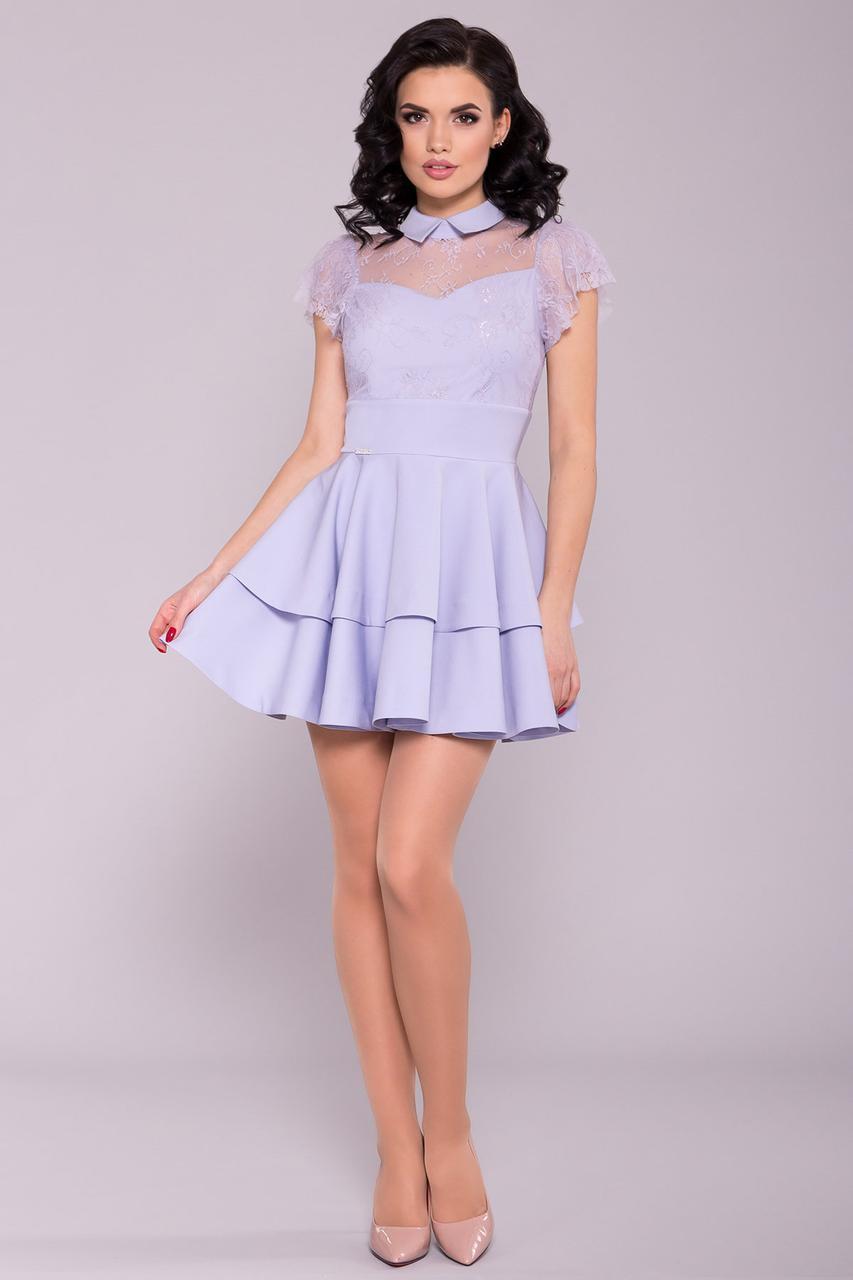 Нежное голубое платье в стиле Бэби-долл