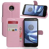 Чехол-книжка Litchie Wallet для Motorola Moto Z XT1650 Светло-розовый