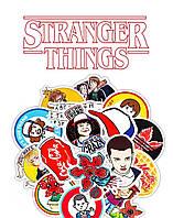 Стикеры наклейки набор 25 штук Stranger Things Очень странные дела