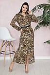 Женское стильное платье-рубашка с принтами (в расцветках), фото 3