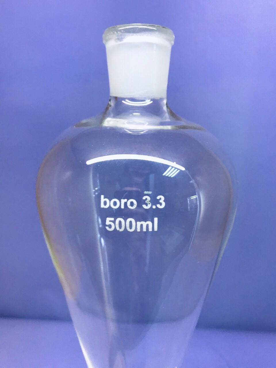 Воронка(лейка) делительная 500мл, грушевидная, G95 (пластиковий кран)