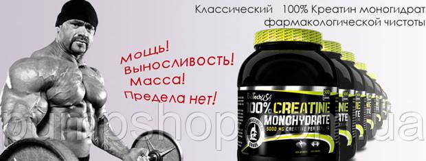 Креатин моногидрат BioTech USA 100% Creatine Monohydrate 500 г, фото 2