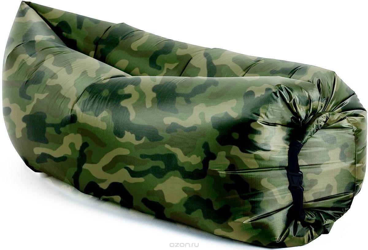 Надувной матрас шезлонг гамак диван Ламзак AIR sofa ARMY 170х100 Акция, фото 1