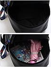 Рюкзак жіночий чорний кожзам. з написами Love, фото 9