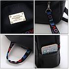 Рюкзак жіночий чорний кожзам. з написами Love, фото 10